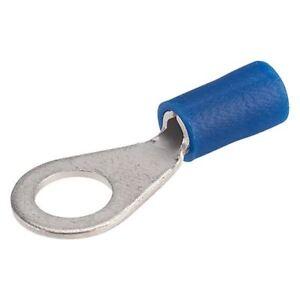 Davico-ebr6-BLU-6mm-Terminale-ad-anello-Confezione-da-100