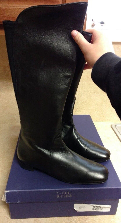 Stuart Weitzman Halftime Leather Nappa Flat Boot