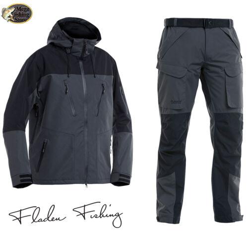 FLADEN Authentic 2.0 Angel & Outdoor Anzug Jacke Hose Wasserdicht Atmungsaktiv Angelsport Bekleidung