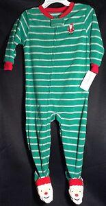 cb4a126f7 NWT Toddler Carter s Santa Claus Fleece Footie Pajamas 18m Christmas ...