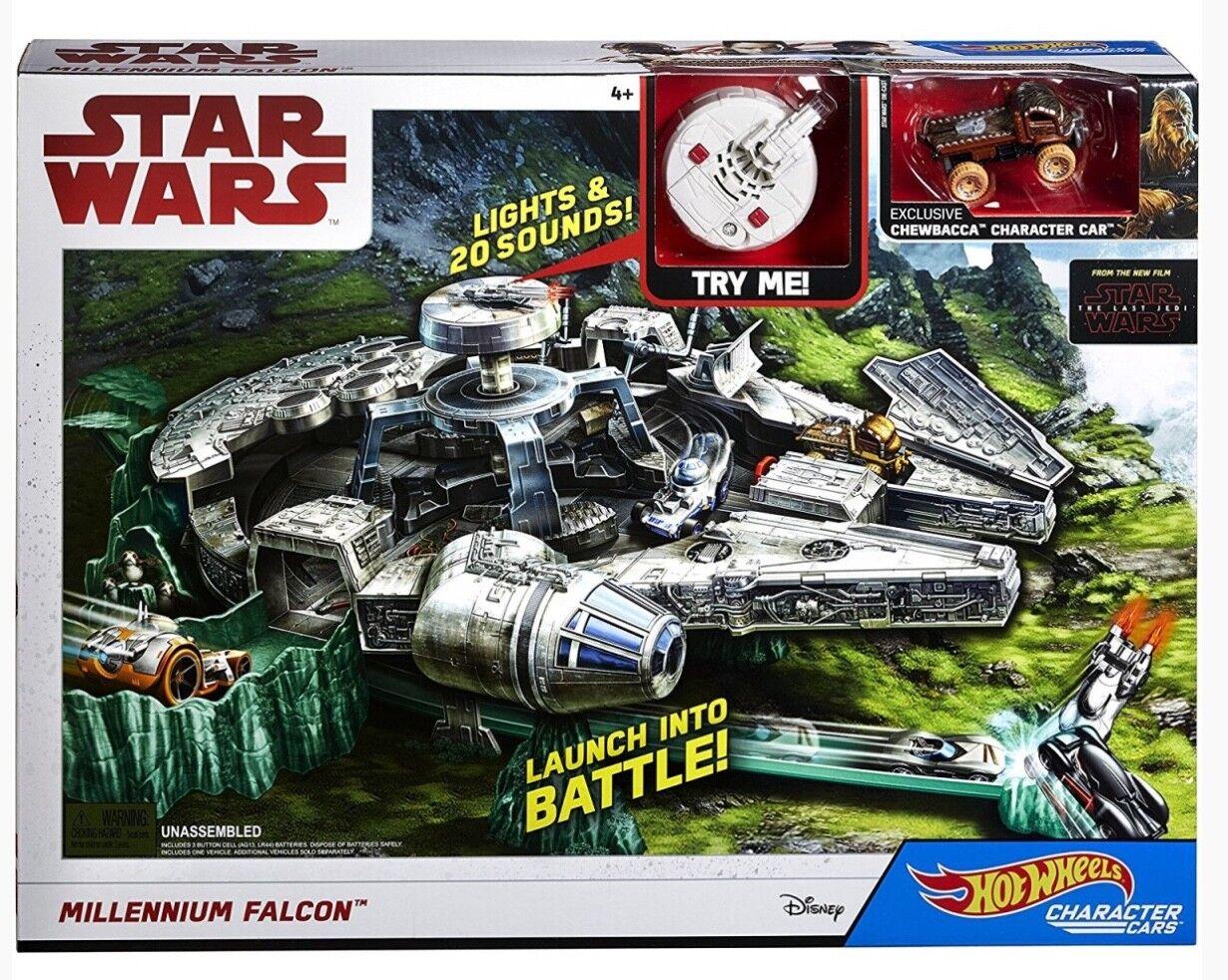 Mattel stjärnornas krig Ep 8 Charater Millennium Falcon spelastat - heta hjul Episode