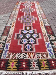 Image Is Loading Vintage Turkish Kilim Rug Runner Hallway 42