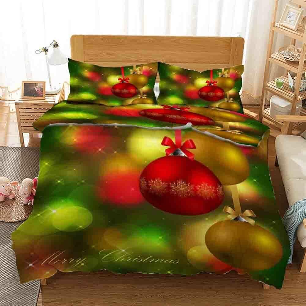 Golden rot Nice Ball 3D Printing Duvet Quilt Doona Covers Pillow Case Christmas