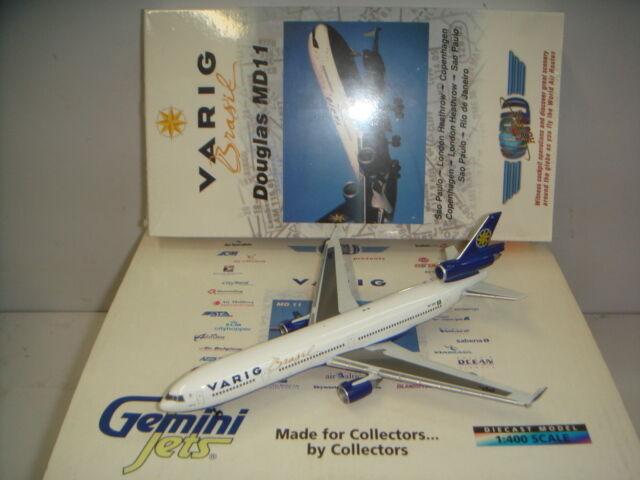 Gemini Jets 400 Varig Brasil MD-11 con sólo avión videos  1996s Color  1 400