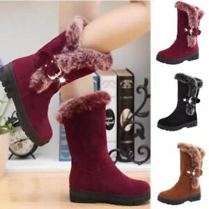 Women-Fur-Scrub-Suede-Snow-Boots-Thicken-Non-slip-Winter-Warm-Fashion-Shoes-New