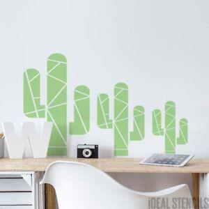 Géométrique Cactus Pochoir Décoration Murale Dintérieur Chambre D