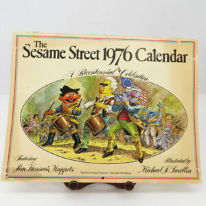Sesame-Street-Jim-Henson-1976-Bicentennial-Calendar-Illustrator-Michael-Smollin