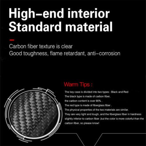 Hard Carbon Fiber Car Handbrake Cvoer Replacement Trim Special For Mustang 15-19