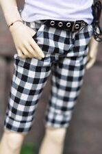 [wamami] 792# Black&White Plaid Middle Trousers/Pants For SD DOD 1/6 BJD Dollfie
