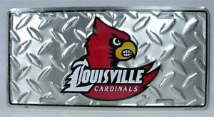 University Of Louisville Cardinals Diamond License Plate Car Truck Vanity Tag
