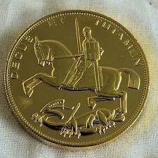 2012 DIAMOND JUBILEE GOLD COATED PIEDFORT PROOF ROCKING HORSE PATTERN CROWN -18