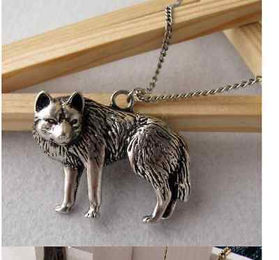 Occident Retro style fashion Wolf Long chain charms necklace 1pcs