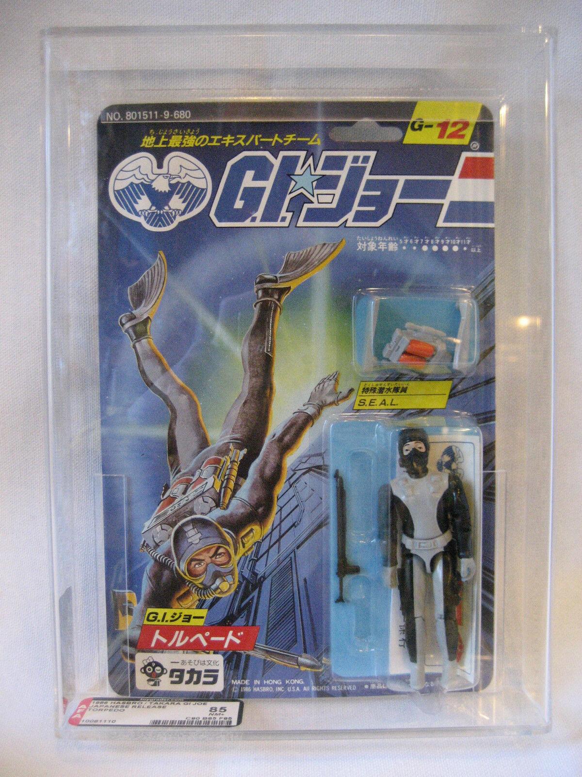 AFA 85 Hasbro GI Joe TORPEDO Takara MOC action figure 1986 Japanese G.I. Joe toy