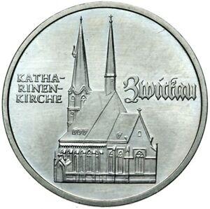 Gedenkmuenze-DDR-5-Mark-1989-A-Katharinenkirche-Zwickau-Stempelglanz-UNC