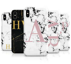 big sale a65f8 c402d Details about PERSONALISED PINK/MARBLE INITIALS MOBILE PHONE CASE COVER FOR  APPLE IPHONE X