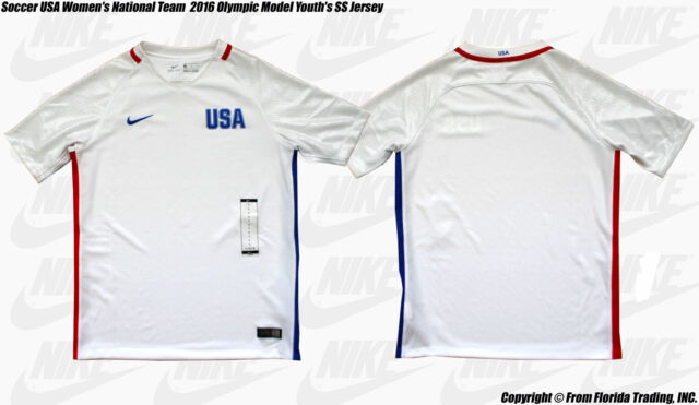 6ea632b8ea9 Soccer USA Women s National Team 2016 Olympic Model Youth s NIKE SS Jersey (M)