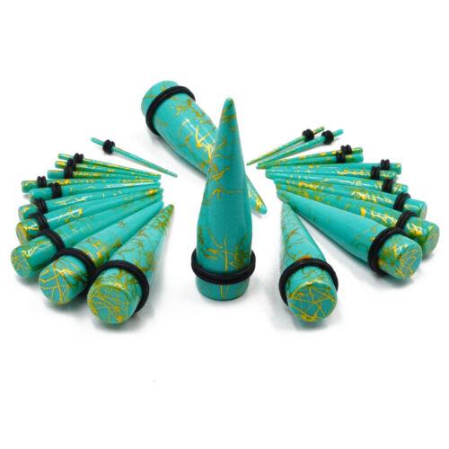 2pcs Acrylic Spiral Ear Taper Stretcher Expander Gauge Piercing Tunnel Plug