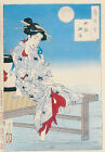 "Vintage Japanese Art CANVAS PRINT Cooling at Shijo 24""X18"""