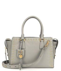 NWT-Cole-Haan-Marli-Leather-Gold-Studded-Satchel-Crossbody-Shoulder-Bag-New-420