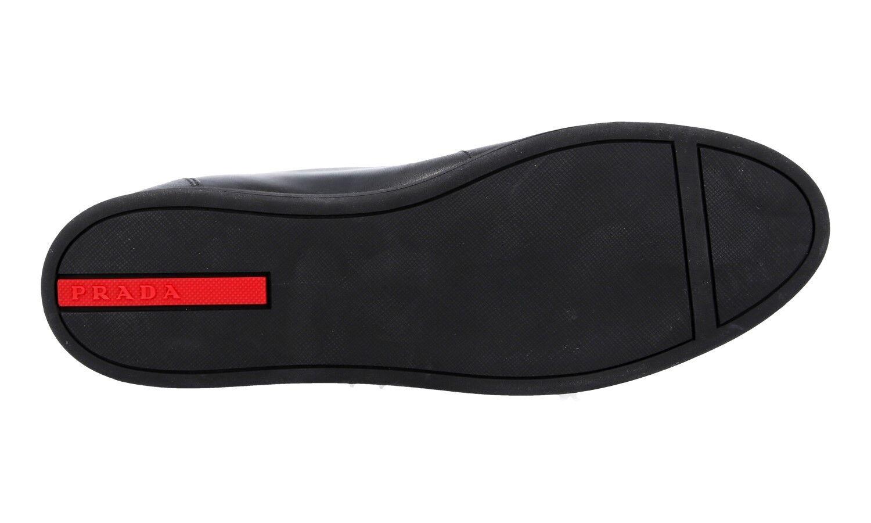 LUXUS PRADA SAFFIANO SNEAKER SCHUHE SCHWARZ 3T5893  NEU 7.5 NEW 40,5 41 UK 7.5 NEU c3ccda