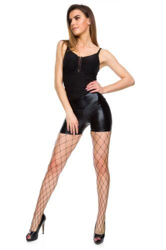Collant da donna nero Crotchless collant calze delicato Mesh Net Pattern SE850