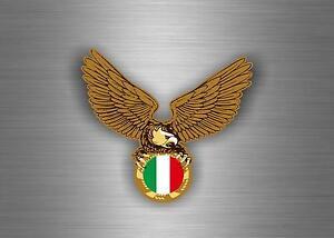 Pegatina-autoadhesiva-coche-motorrad-bandera-italia-aguila-motard-motero
