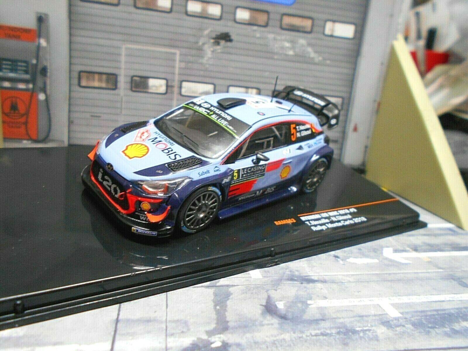 Hyundai i20 WRC Rallye Monte Carlo 2018  5 5 5 NEUVILLE Shell New ram663 Ixo 1 43 6f9c20