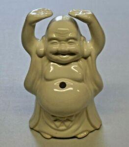 Vintage-Benihana-of-Tokyo-Buddha-Tiki-Mug-Glass-Figure-7-1-2-034-Tall-Hands-Up