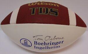 TOM-OSBORNE-SIGNED-FOOTBALL-NEBRASKA-CORNHUSKERS-NCAA-BOEHRINGER-INGELHEIM-COA