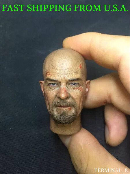 1 6 Heisenberg Head Breaking Bad Walter White For Hot Toys Male Figure ❶USA❶