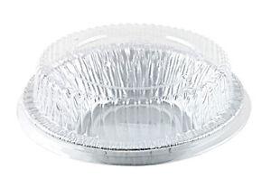 4 7 8 Quot Aluminum Foil Tart Mini Pie Pan W Clear Plastic
