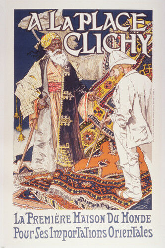 VINTAGE 1900/'s FRENCH ADVERTISING POSTER Paris hot NEW rare find 24x36
