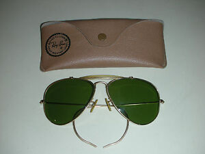 8e3d39bba39 Vintage USA B L Ray Ban Aviator Sunglasses 1 10 12K GF Gold Plated ...