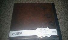 Colorbok 12 x 12 designer scrapbook album - Fall brown flowers