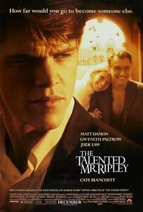 """THE TALENTED MR RIPLEY Double Sided Original Movie Poster 27""""x 40"""""""