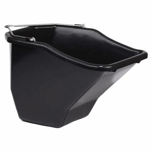 Black 2 Pack Little Giant 10QT Plastic Flat Back Livestock Feed Bucket