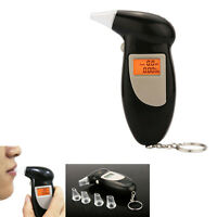 Digital Lcd Breath Alcohol Analyser Tester Detector Breathalyser 4 Mouthpieces