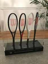Roger Federer Limited Edition Autographed Mini Tennis Racket Set 120 of 150 RARE