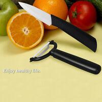 Ceramic Kitchen Knife Set Black Blade Chef Knives W/ Peeler Cutlery