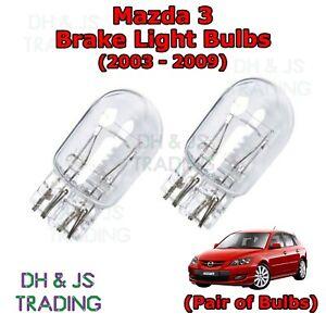 Tail Capless Twin Filament Bulb Mazda 3 Brake Light Bulbs Stop 03-09