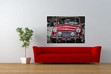 PHOTO TRANSPORT VINTAGE MINI COOPER RED CLASSIC CAR GIANT PRINT POSTER NOR1041