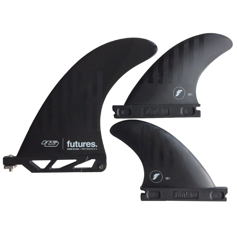 Futures fins Alpha Hs 2 Plus 1 Tavola da Surf Pinna Set Nuovo 15.2cm Hayden