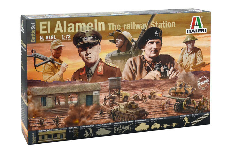 El Alamein Battle At At At The Railway Station Kit ITALERI 1 72 IT6181 f1488d