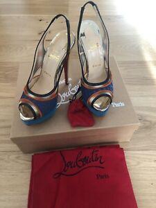 premier taux 8be63 db969 Details about BNIB Rare Christian Louboutin Marinadentella Slingback Shoes  15 cm