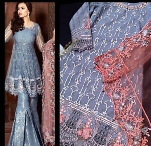 Details about Pakistani Maria B Inspired Gharara Dress 3 Pc Size Medium Eid  Wedding Formal