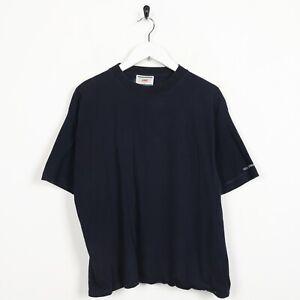 Vintage-Women-039-s-Levi-Strauss-Logo-a-la-Manche-T-Shirt-Tee-Bleu-Large-L