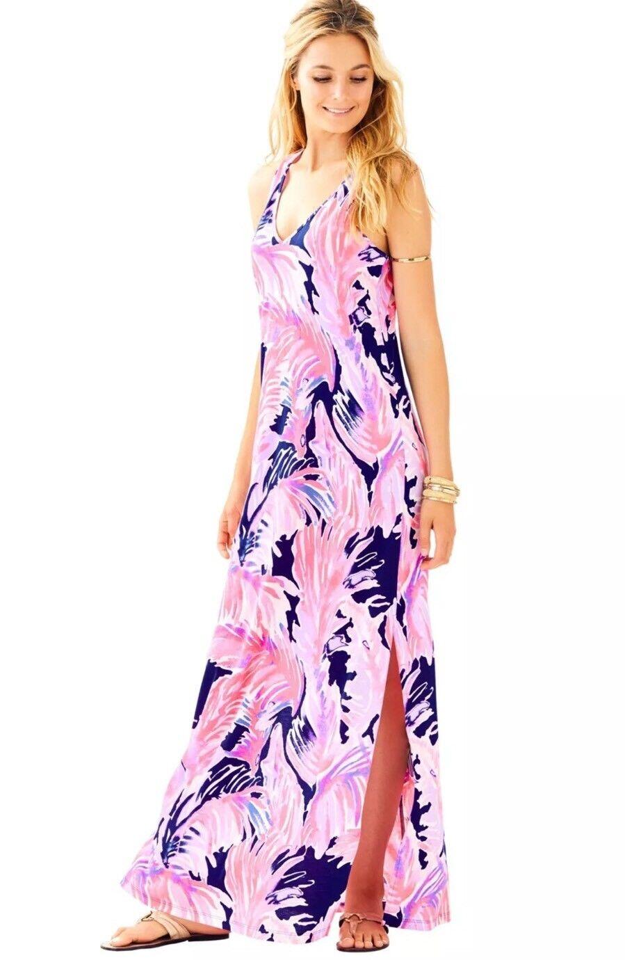NWT Lilly Pulitzer Kerri Maxi Dress True bluee Paradise Point Reduced Small S