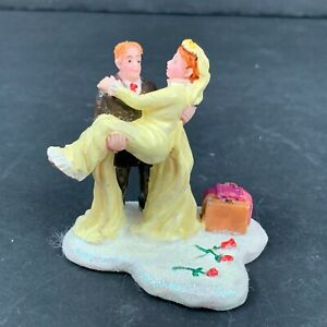 Lemax Just Married Couple Christmas Village Figure Accessory 2004 Retired 42911