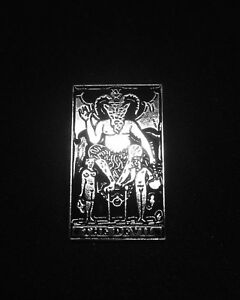 Details about Devil Tarot Card Pin Silver & Black Enamel Temptation Oracle  Sabrina Witch Coven