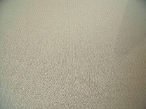 FREE P+P HERRINGBONE CREPE-BEIGE DRESS FABRIC